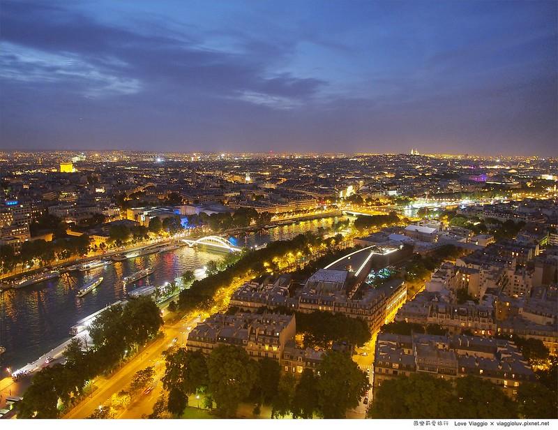 【巴黎 Paris】夜晚的艾菲爾鐵塔 登上鐵塔欣賞夢幻夜巴黎 La Tour Eiffel @薇樂莉 ♥ Love Viaggio 微旅行