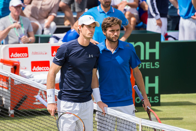 Andy Murray and Gilles Simon