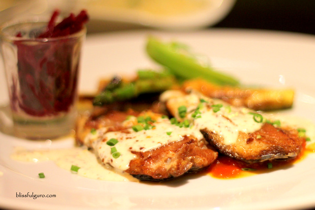 Terraz Bistro Makati City Buttered Tilapia Saltimbocca