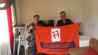 Sandoval Fernandes com os presidentes do Solidariedade em Iperó, Ribeira e Apiaí, municípios do interior de São Paulo