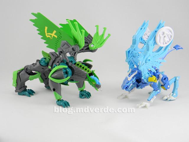 Transformers Skystalker Deluxe - Transformers Prime Beast Hunters - modo bestia vs Grimwing