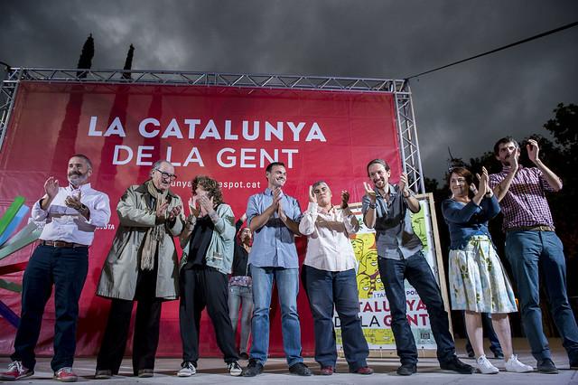 Acto de campaña en Mataró