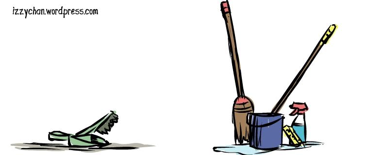 dust pan mop broom sponge bucket windex