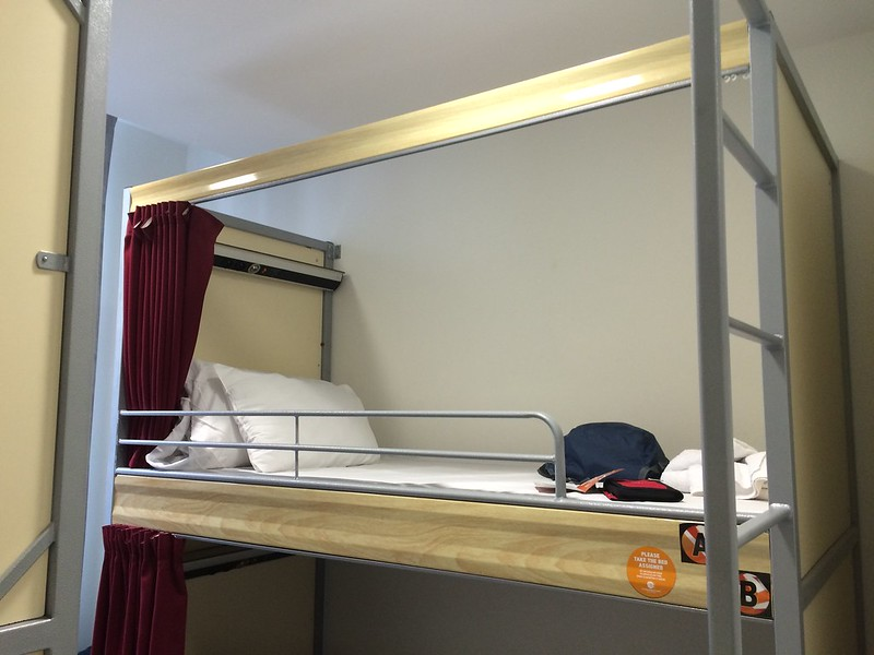 Top bunk at St. Christopher's Inn.