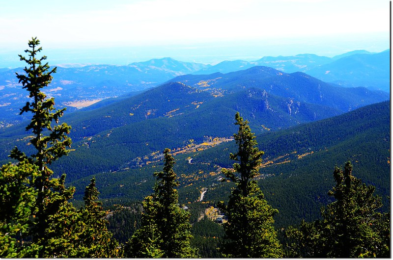 Overlooking down on Squaw Pass from the summit of Squaw Mountain 1