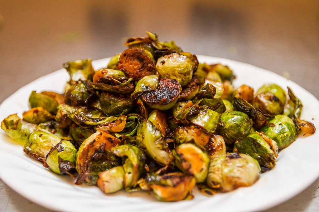 For the recipe => Balsamic Braised Brussels Sprouts by Motion Mom