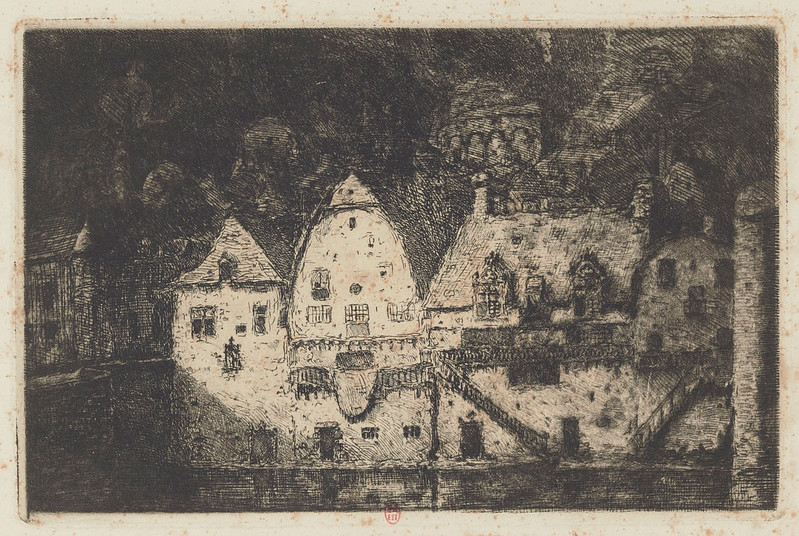 Eugene Viala - Houses From Tanners, detail version, 1880-1913