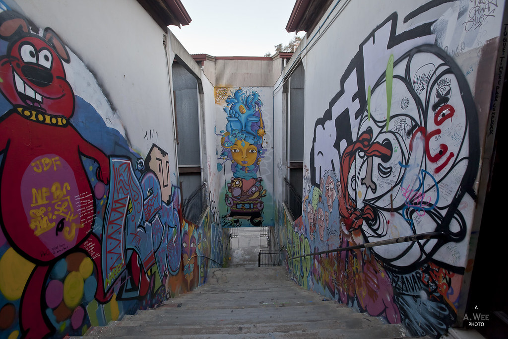 Passageway with graffiti