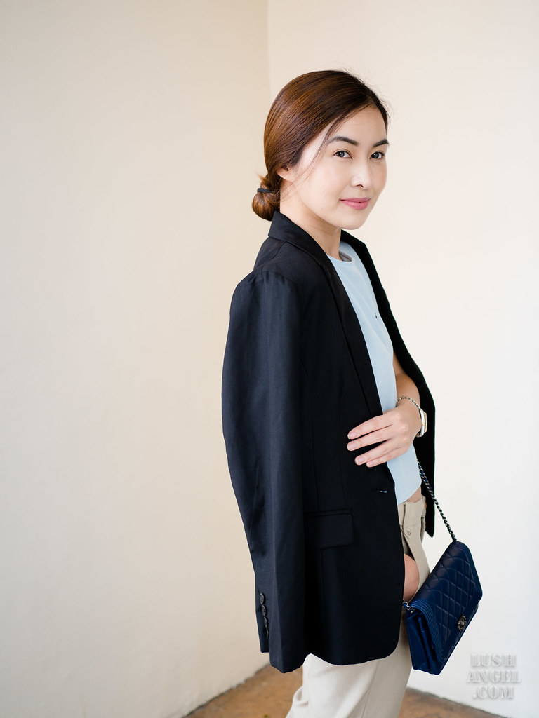 black-long-blazer