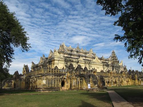 Inwa: le monastère en brique Maha Aungmye Bonzan