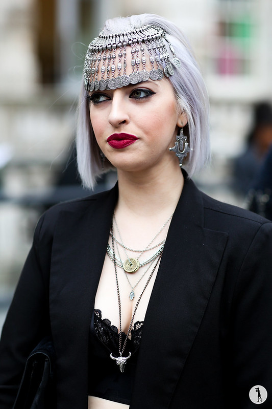 Lucy Anderson at London Fashion Week