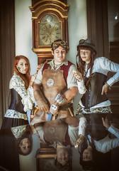 SteamPunk Zaragoza | Sesion de fotos en el Palacio Larrinaga Zaragoza 2015