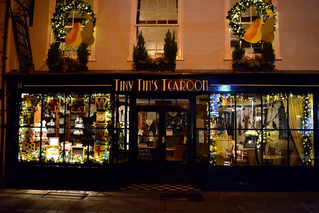 Tiny Tim's Tea Rooms Christmas Windows, Canterbury   www.rachelphipps.com @rachelphipps