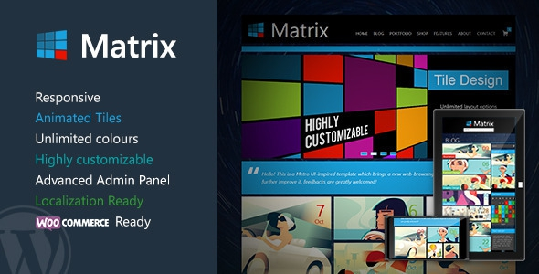 Themeforest Matrix v2.2.1 - Responsive WordPress Theme