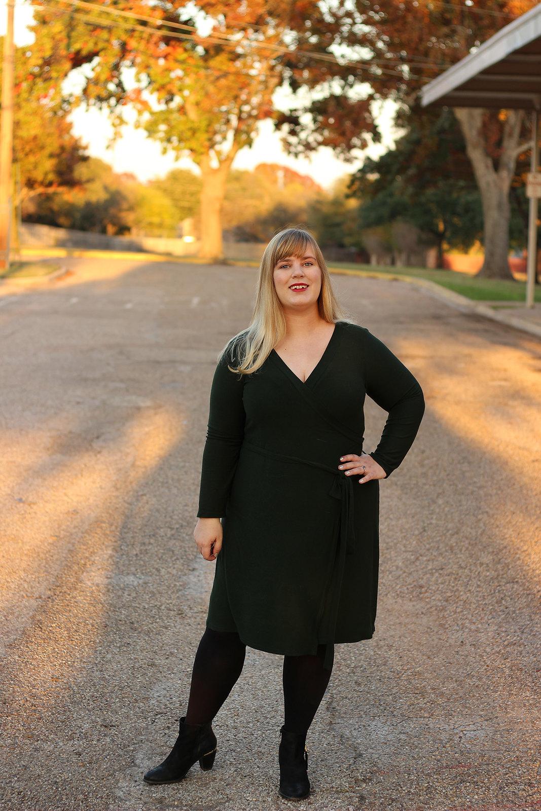 Idle Fancy - Cashmerette Appleton Dress - Green Wool Jersey-1113