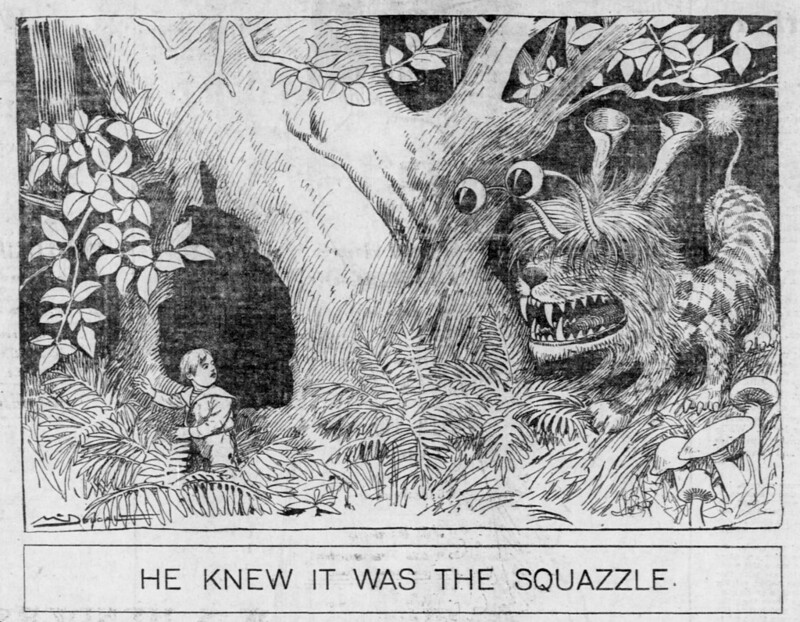 Walt McDougall - The Salt Lake herald., August 10, 1902, He Knew It Was The Squazzle