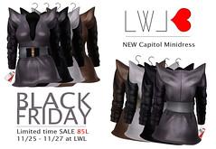 BLCK FRIDAY SALE - NEW Capitol Minidress