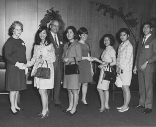 Mayor Braman's Christmas reception for foreign students, 1969