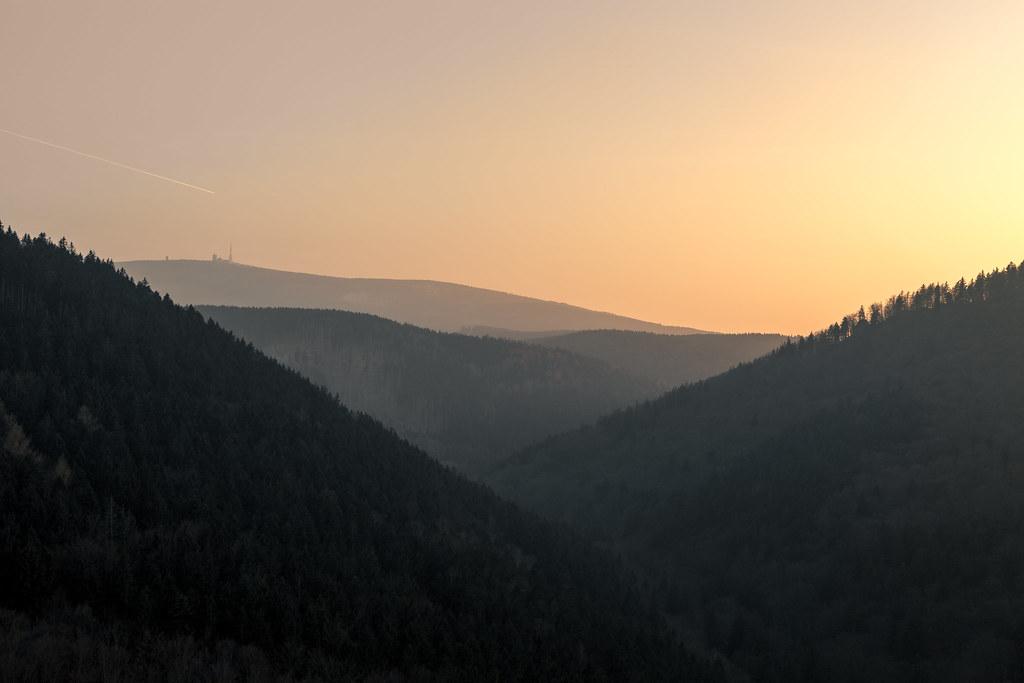 Sonnenuntergang im Ilsetal