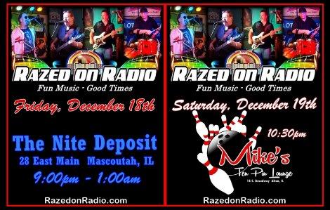 Razed On Radio 12-18, 12-19-15