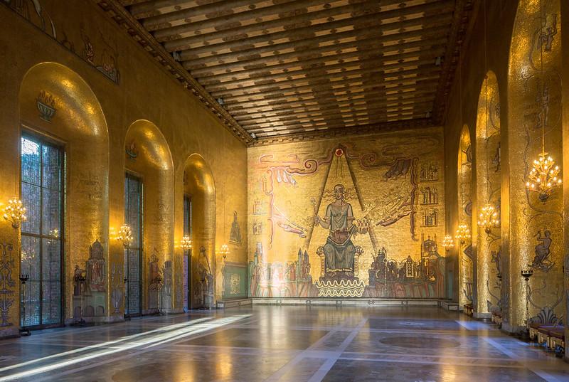 Stockholm City Hall's Golden Hall