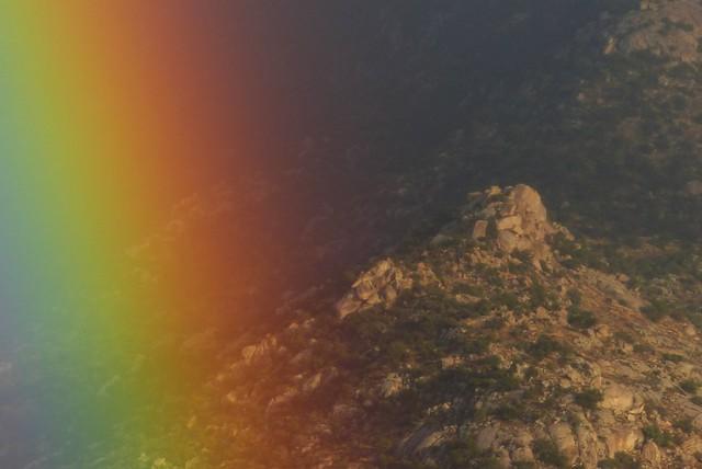 Rainbow on the rocks, Panasonic DMC-FZ200