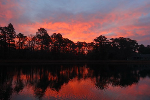 spectacularsunsetsandsunrises cloudsstormssunsetssunrises sunrise dawn lake reflections redclouds fairfieldharbour northcarolina sonyphotographing sony dschx20v