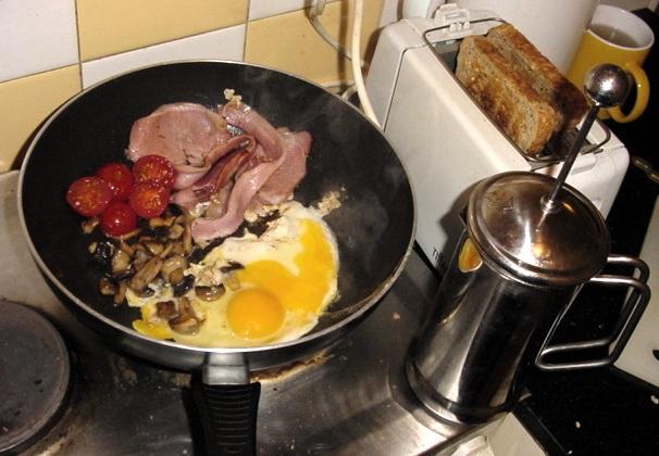 Breakfast cooking