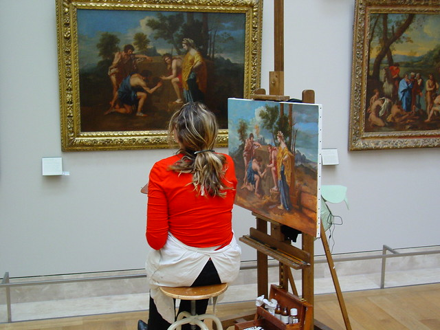 Art Student in the Louvre