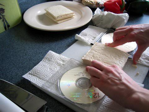 Slicing tofu thin