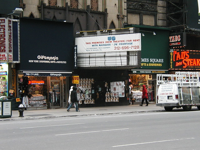 This was the last porno movie theatre in Times Square, run out of business ...