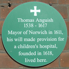 Photo of Thomas Anguish green plaque
