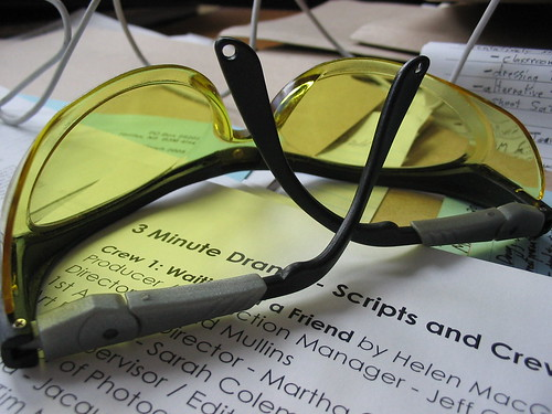 Safety Glasses on Desk