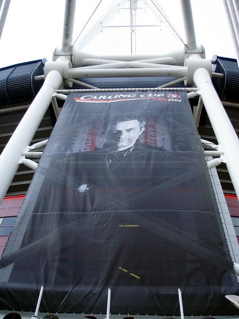FA Cup Banner, Chelsea team