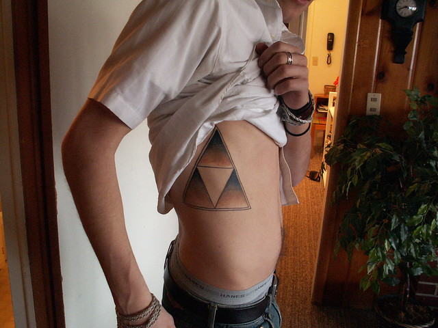 Ben and his spiffy Triforce tattoo Skinny bastard Just jealousy speaking