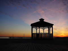 Gazebo on Coney Island's boardwalk - Brooklyn, New York