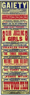Gaiety Poster - Aug 4th 1913