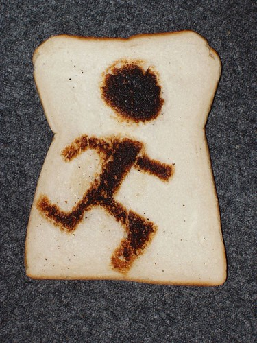 Toast art - running man