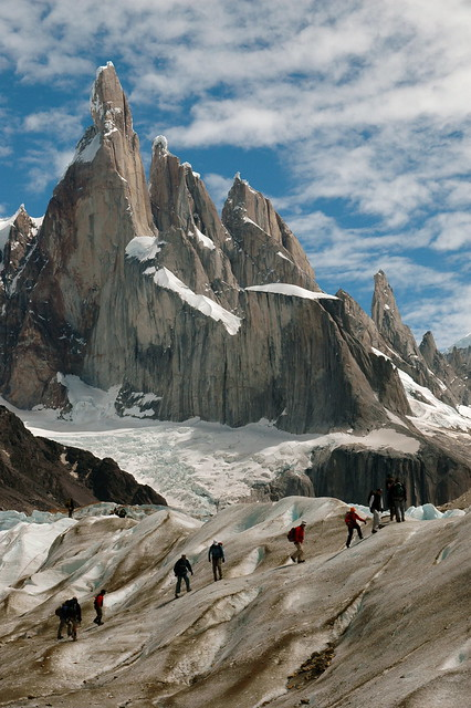 Glacier hike under Cerro Torre