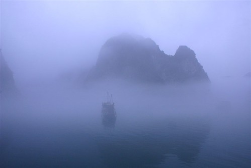 Early Morning Fog in Halong Bay