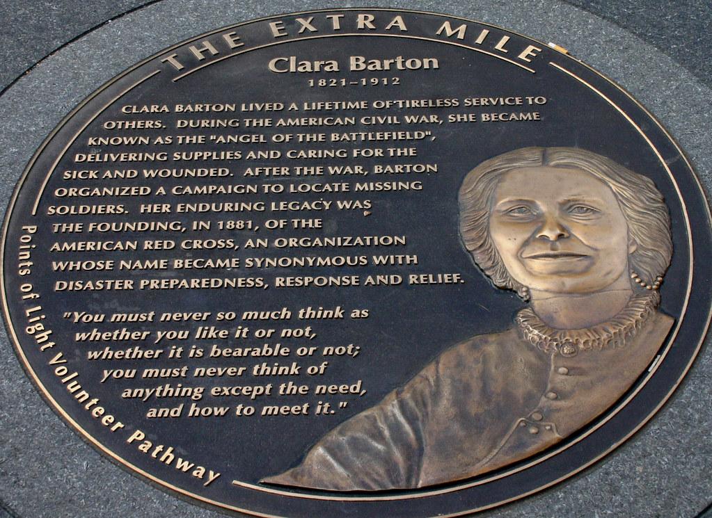 Clara Barton, founder American Red Cross