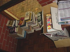 Books in boxes