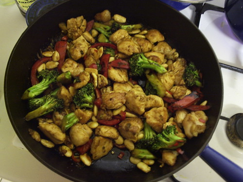Chicken, Broccoli and Pepper stirfry.