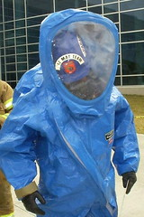 personal protective equipment, clothing, hazmat suit, outerwear, blue,