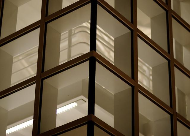 Glass Corner at night