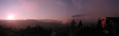 panorama sunrise geotagged view sarajevo bosnia may 2006 bih geolat4386635589324998 geolon1842240886489246