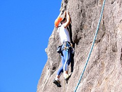 sports(0.0), free solo climbing(0.0), adventure(1.0), individual sports(1.0), recreation(1.0), outdoor recreation(1.0), mountaineering(1.0), rock climbing(1.0), sport climbing(1.0), extreme sport(1.0), abseiling(1.0), climbing(1.0),