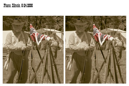 county sepia cutout soldier illinois flag rifles confederate stereo plano parallel kendall reenactment starsandbars