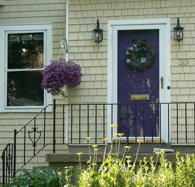Flowers For Front Door: Lavender Door & Flowers