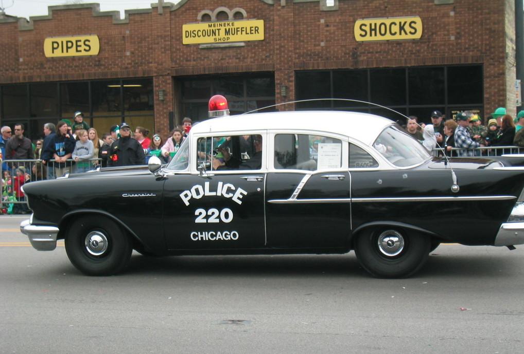 1957 old chicago police car chevrolet a photo on flickriver. Black Bedroom Furniture Sets. Home Design Ideas